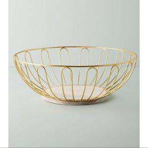 NWT - Anthropologie Large Wire Basket